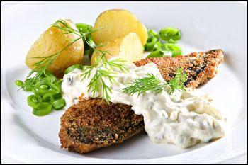 Stekt makrell med gribiche-saus
