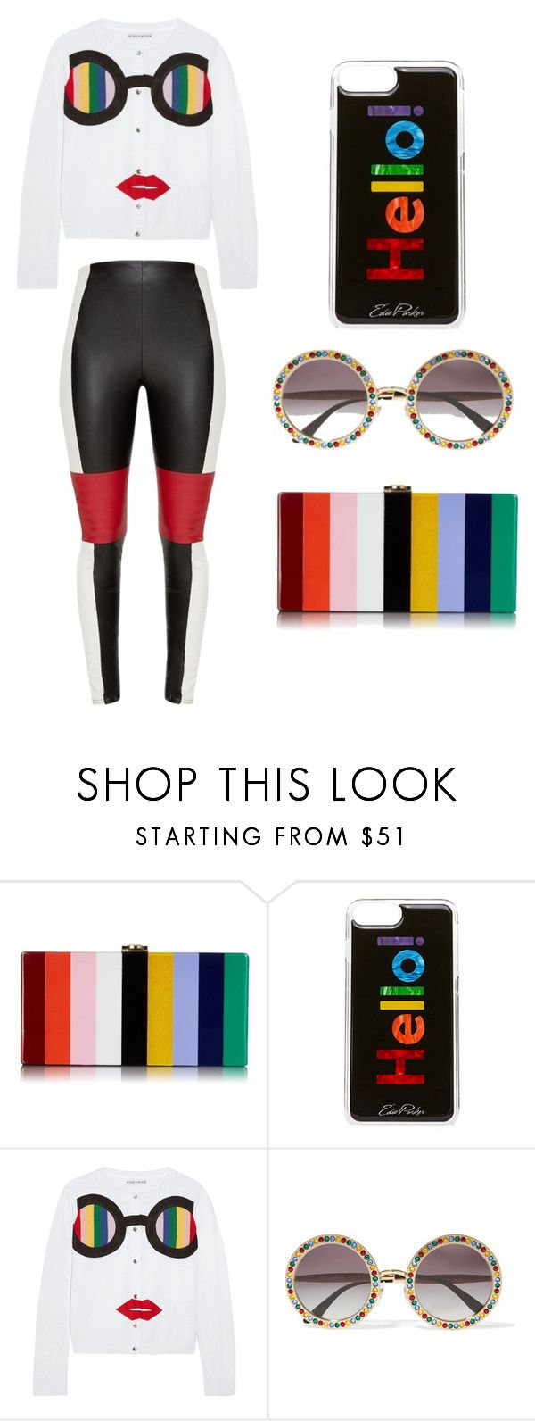 """""""Rainbow Outfit! 🌈"""" by deliaionita2003 ❤ liked on Polyvore featuring Milly, Edie Parker, Alice + Olivia, Dolce&Gabbana, outfit and rainbow"""