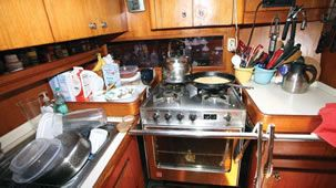 The Galley: Where Form Meets Function  -- Practical Sailor looks at what makes for great galley design.  Yes, galleys are tiny . . . but small design features make HUGE differences in how easy it is to cook.  Via TheBoatGalley.com