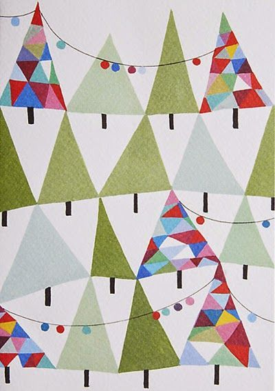 Beautiful simplicity among the slew of usual Christmas tackiness - (It would make a beautiful quilt!)