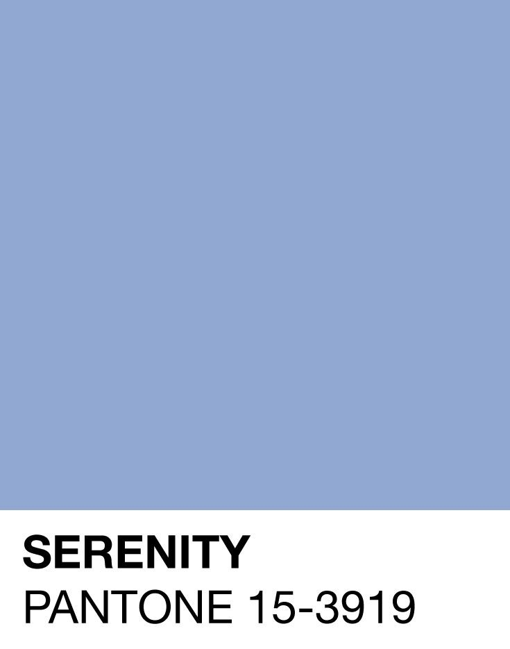 Serenity Pantone Color of the Year 2016