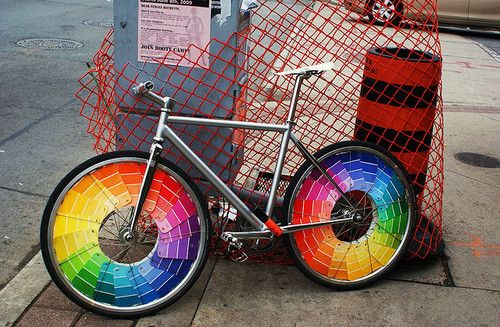 colorful paint chip wheels
