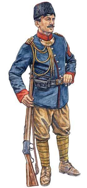 Sierżant Żandarmerii tureckiej, 1912.