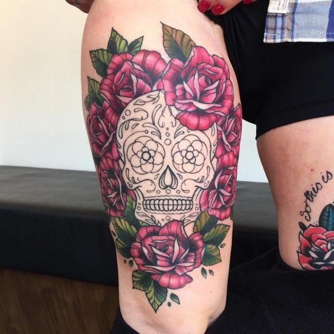 Tatuagem Feminina no Braço | Caveira Mexicana