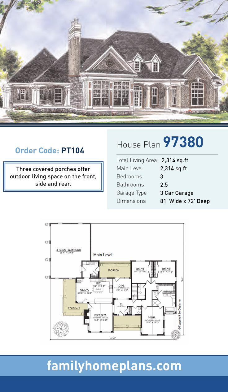 299 best house plans images on pinterest home plans house floor european house plan 97380