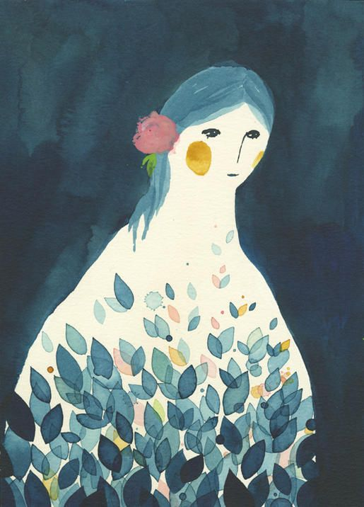 La mujer ave Cabeza de pensamientos, cuna de dudas. Nido de ideales. Esparciendose en el aire. Ave Nomoco