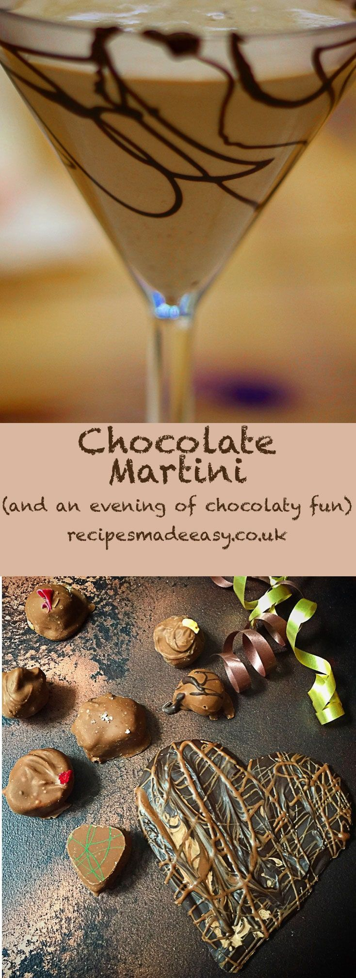 Chocolate Martini, prosecco and an evening of chocolaty fun with Red Letter Days. #chocolate #coctails #redletterdays via @jacdotbee