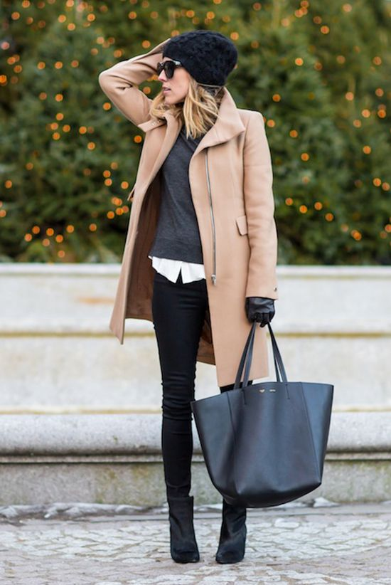 30 Stylish Ways To Wear A Camel Coat | Outfit work, Outfit ...