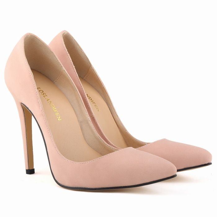Four Seasons Fashion Sexy Pump High Heel Shoes Asakuchi Wedding Bridesmaid Nude Women Suede High Quality Shoes Plus Size Hot-in Women's Pumps from Shoes on Aliexpress.com | Alibaba Group