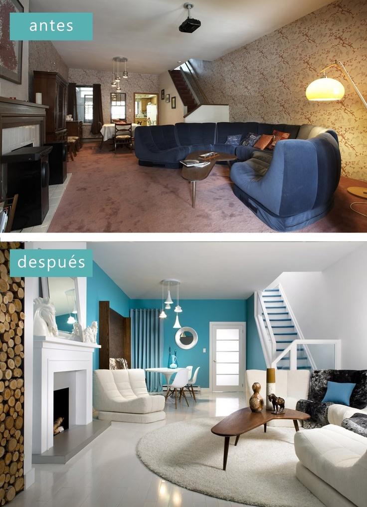 Antes y despu s los asaltacasas interior design dise o for Master diseno de interiores