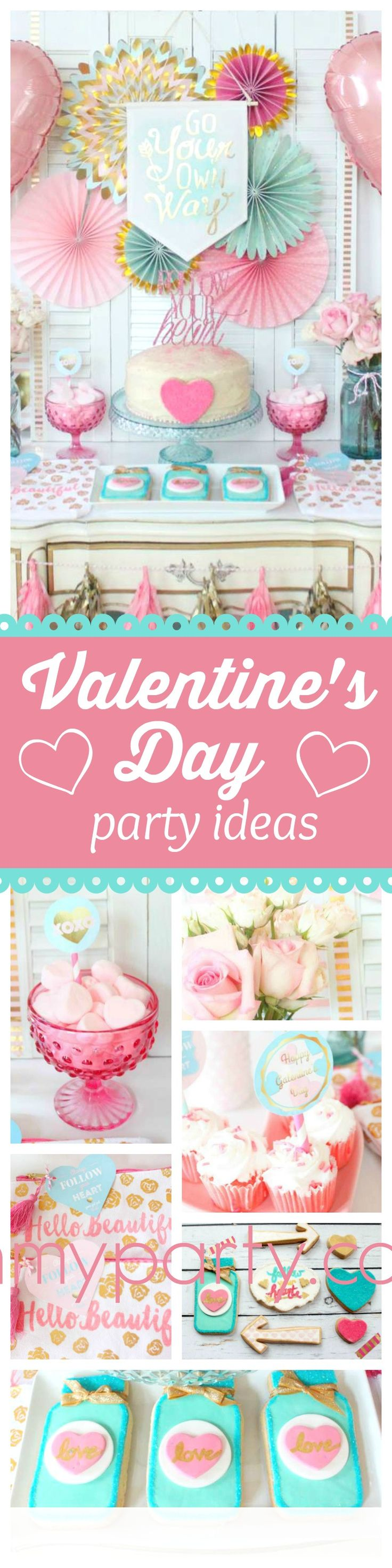 Follow your heart and don't miss this gorgeous Valentine's Day party!! The dessert table is adorable!! See more party ideas and share yours at CatchMyParty.com
