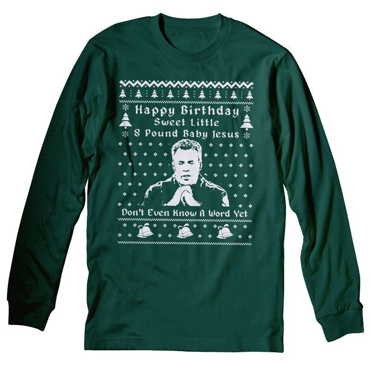 Ricky Bobby Christmas - Sweet Little 8 Pound Baby Jesus - LONG SLEEVE T-shirt