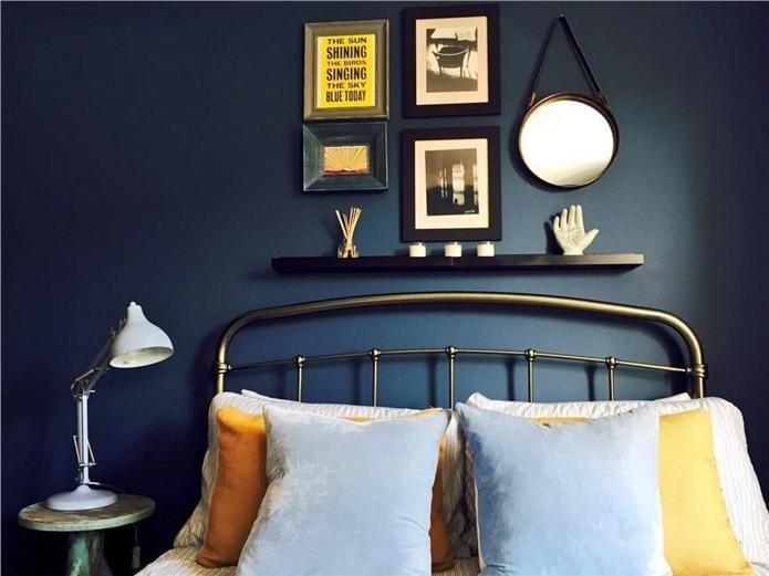 An inspirational image from farrow and ball stiffkey blue for Bedroom inspiration farrow and ball