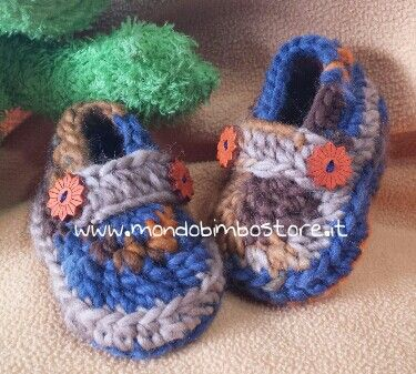 Baby booties crochet scarpine neonato lana
