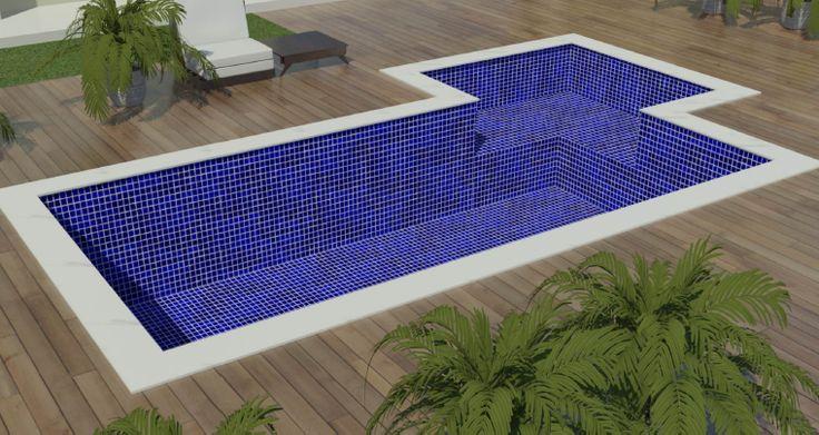 25 melhores ideias de piscina alvenaria no pinterest for Video de modelos de piscinas