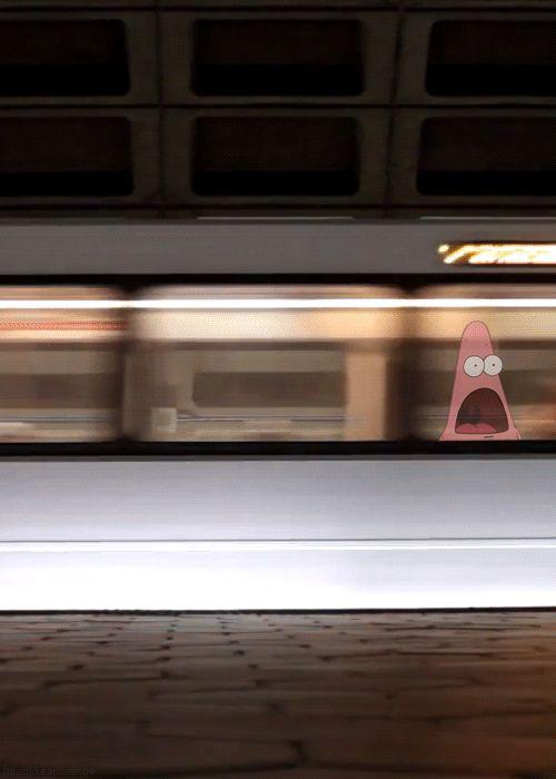 surprised patrick train