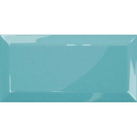 Metro csempe 10x20 cm fényes világos kék színben