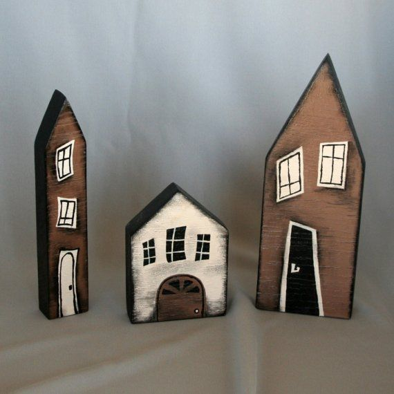 Small wooden houses set of thereignofellen on Ets …
