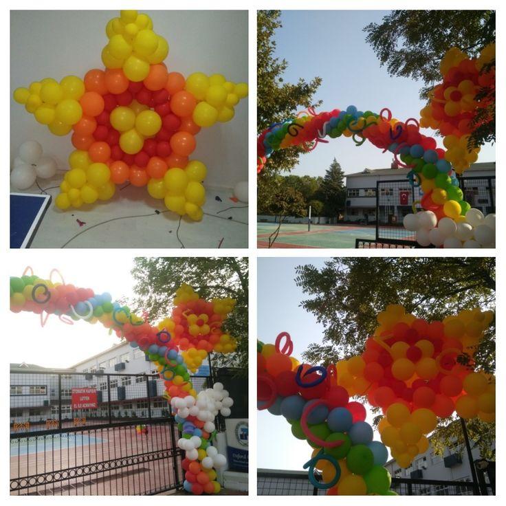 Balon Süsleme - Dekorasyon (Gökkuşağı)