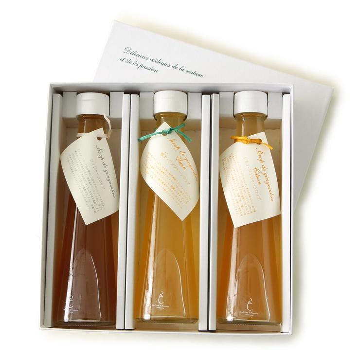 Confiture et Provence/ジンジャーシロップ ギフトセット(プレーン・ゆず・レモン)  2520yen 体を内側から温める!手作りジンジャーシロップセット