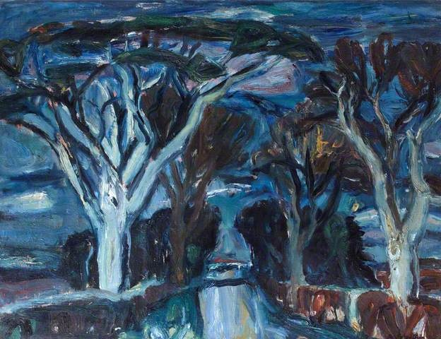 Woods at Humbie, East Lothian, 1936 by William Gillies (1898-1973)