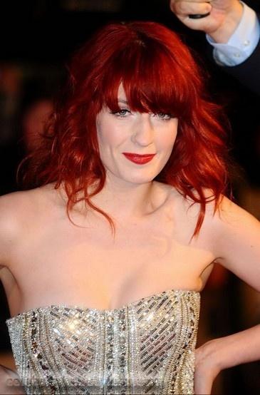 cabelo cor de fogo de Florence Welch