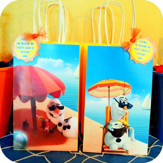PRINTABLE  Disney OLAF SUMMER Frozen Gift Bags by KraftsbyKaleigh, $3.00