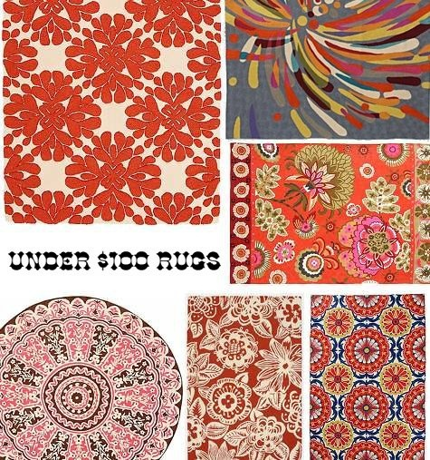 Red, Pink And Orange Rugs