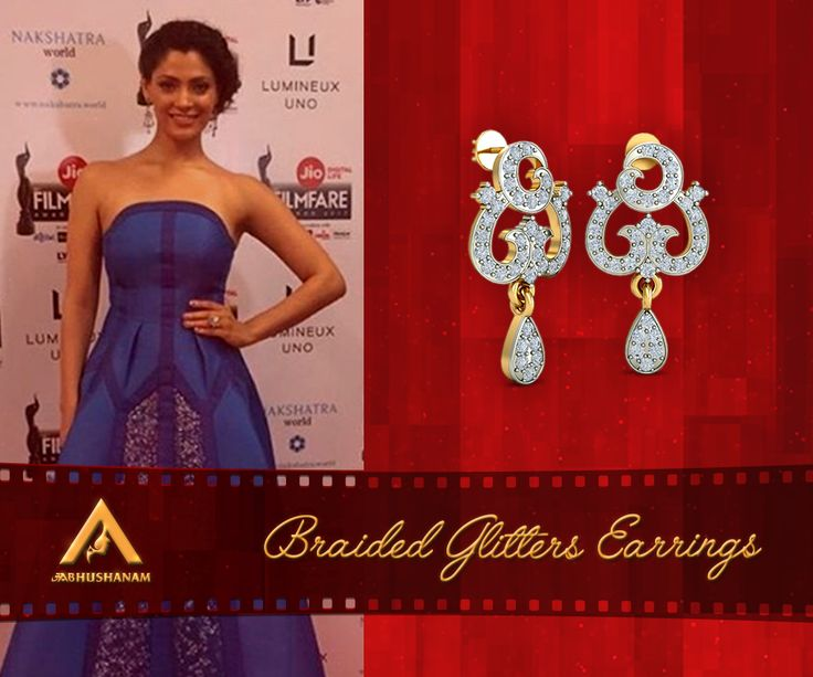 Saiyami Kher, of Mirzya fame, looked elegant in a blue gown paired with diamond drops. Explore this design: http://aabhushanam.in/collections/pendant-set/products/apt-398-apt-398 [Disclaimer: The actor is in no way associated with Aabhushanam. Her image is used only for reference.]