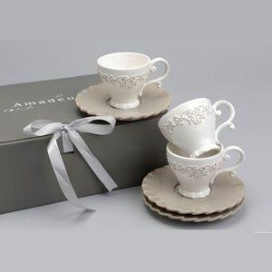 Coffret 6 expressos vaisselle de charme Amadeus