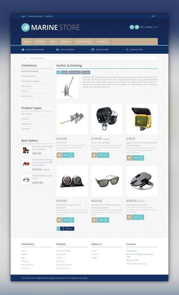 Yachting Responsive Shopify Theme E-commerce Templates, Shopify Themes, Sports, Outdoors & Travel, Sport Templates, More Sports, Yachting Templates