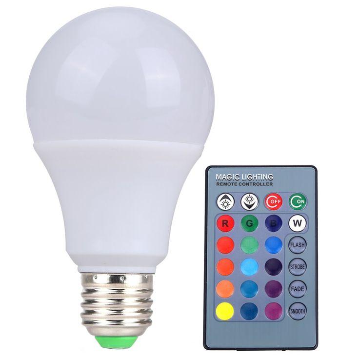 Vanjing RGB LED Lamp E27 3W 5W 10W LED RGB Light Lampada LED Bulb 85-265V SMD5050 16 Colors Change with IR Remote Controller #Affiliate