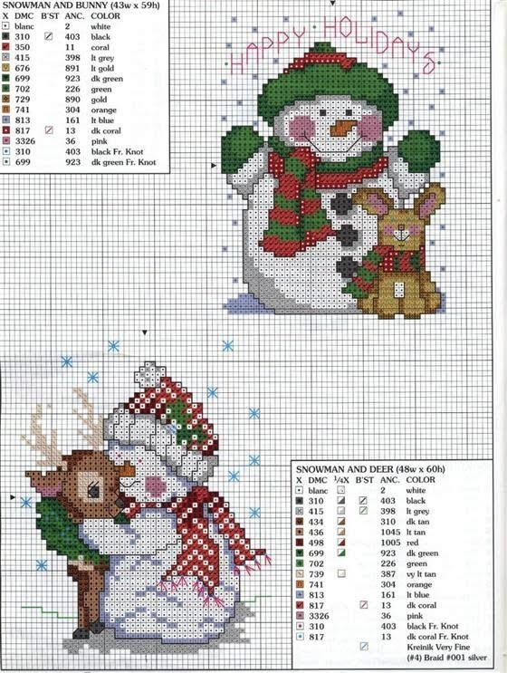 > Christmas - cross stitch patterns -2 / new year - crossed the job templates -2 «rusensdiary