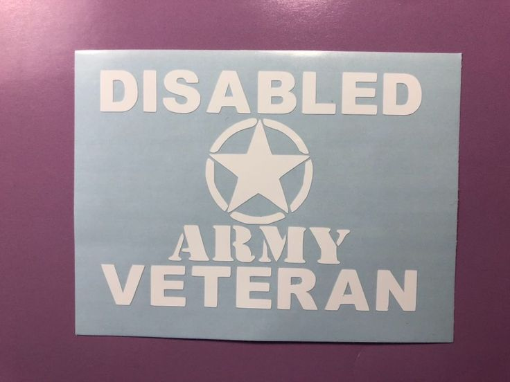 Disabled Veteran Army Dog Tags White Vinyl Decal Sticker Window Car Electronics   eBay Motors, Parts & Accessories, Car & Truck Parts   eBay!