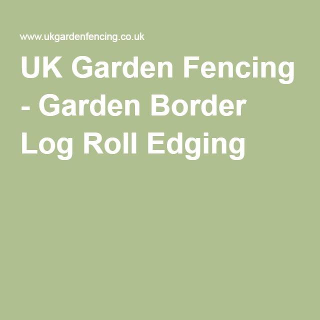UK Garden Fencing - Garden Border Log Roll Edging