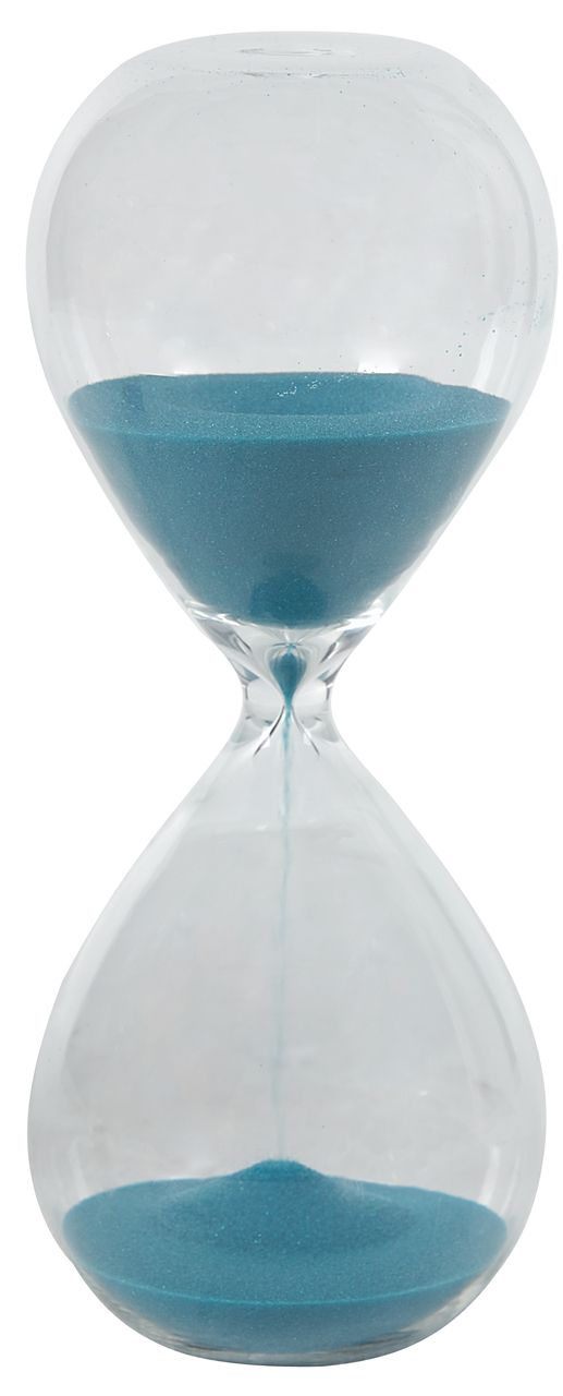 30 Minute Modern Sand Glass Hourglass Timer Peacock Blue Turquoise
