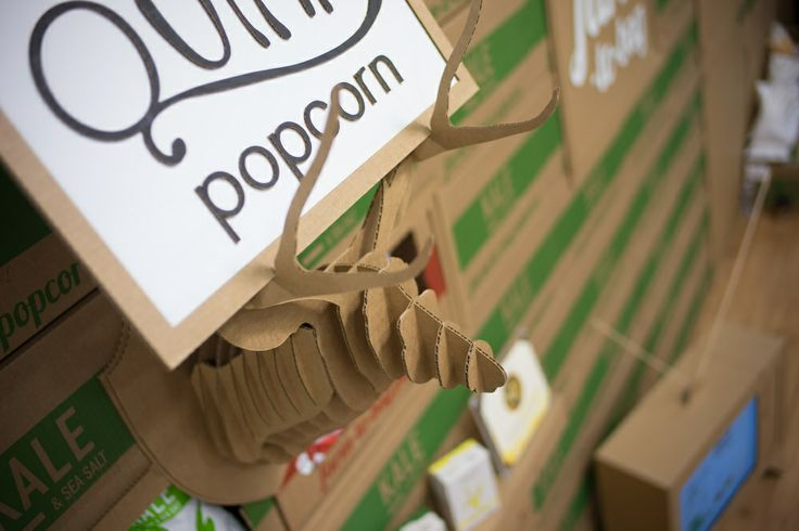 quinn popcorn | cardboard trade show booth
