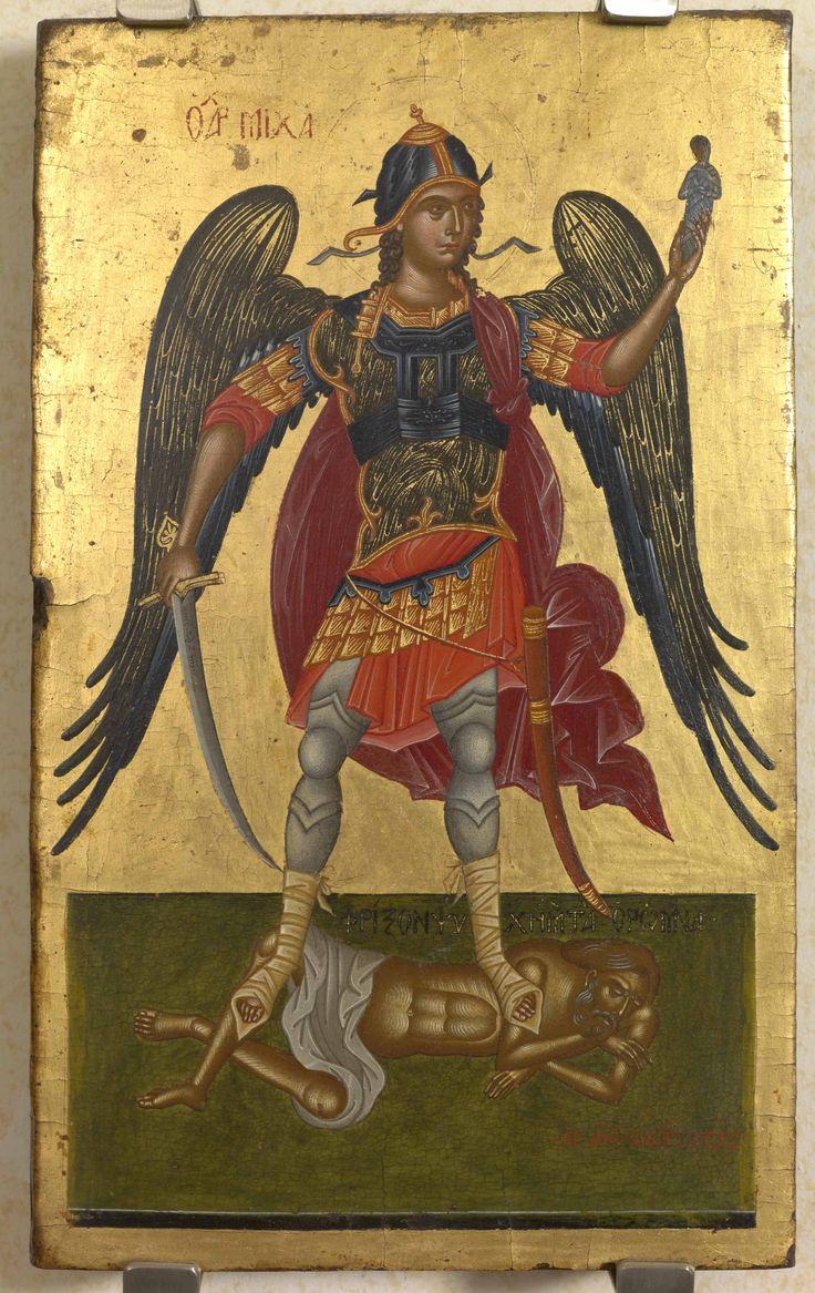 Antonios Mytaras 17th c.- Archangel Michael and the soul