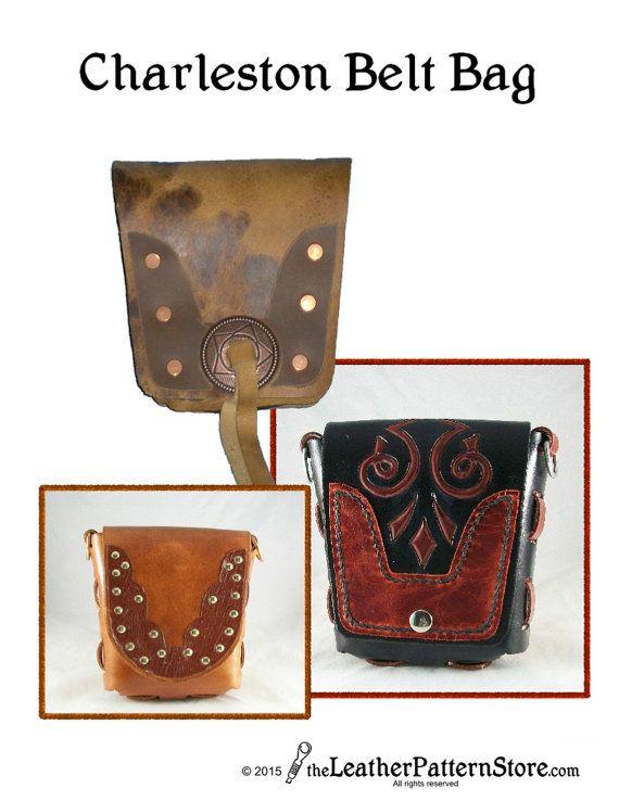 PDF leather pattern  Charleston Belt Bag  by leatherpatternstore