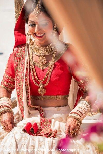 Indian  bride look. http://www.maharaniweddings.com/gallery/photo/119623