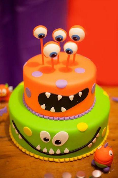 Lil monster birthday cake