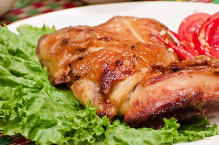 Pečené kurča v sladkokyslom náleve
