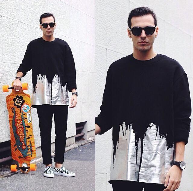 Gaelle Bonheur Paris @robertoderosa for //GAELLE// #fw2015 #boy #fashion #wintercollection skateboard street look style Available here: www.gaellebonheur.com