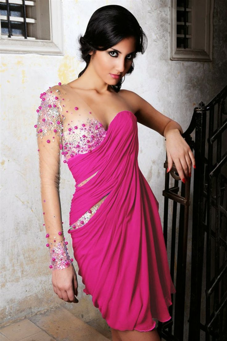 Pink summer prom dresses