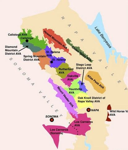 This is a map of all of Napa Valley's Appellations (Protected wine growing regions).  http://tomsfoodieblog.com/2013/04/22/napa-valley-gastronomic-tour-understanding-napa-valley-regions/