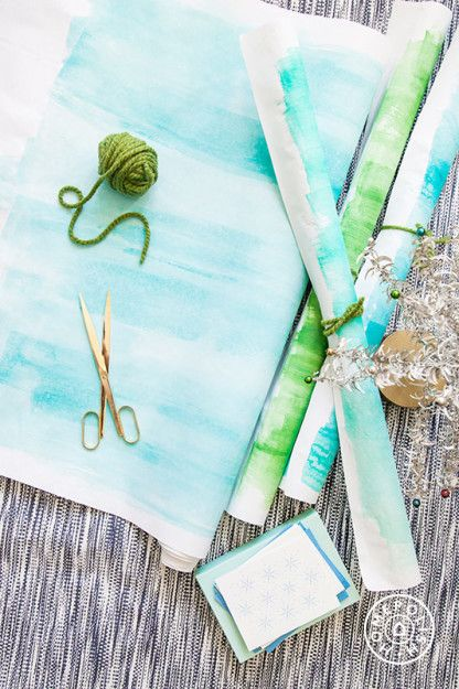 How To Make Handpainted Wrapping Paper That's So Simple It's Stupid by Homepolish Los Angeles https://www.homepolish.com/mag/how-to-make-wrapping-paper?utm_source=homepolish: