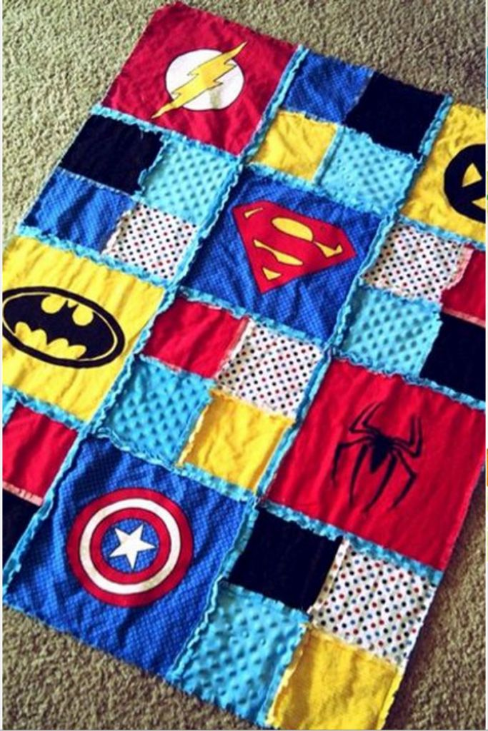 Do you have a Superhero in your life? Use our 2 different sized rag square dies and make them a quilt! Found it at: http://thewhoot.com.au/whoot-news/crafty-corner/best-of-rugs