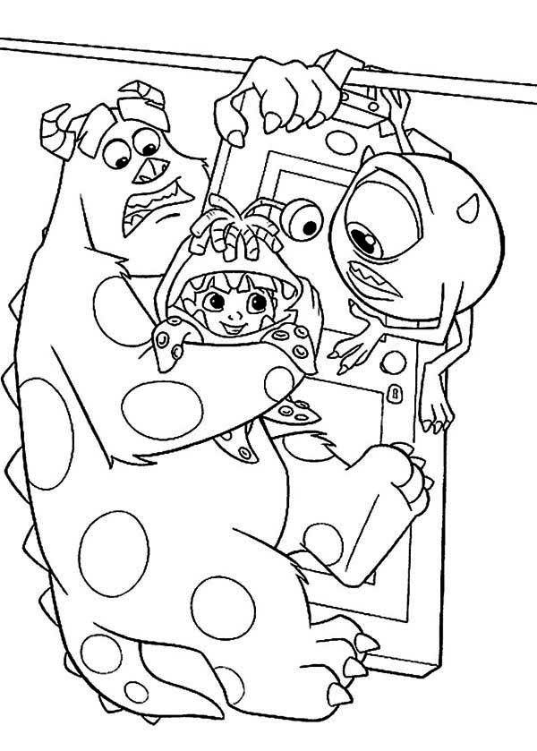 41 best monster printables images on pinterest | parties, monsters ... - Monsters Coloring Pages Sully