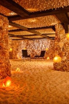 Santa Barbara.  Underground Himalayan Salt Caves  Something you'd never think of. Awesome: