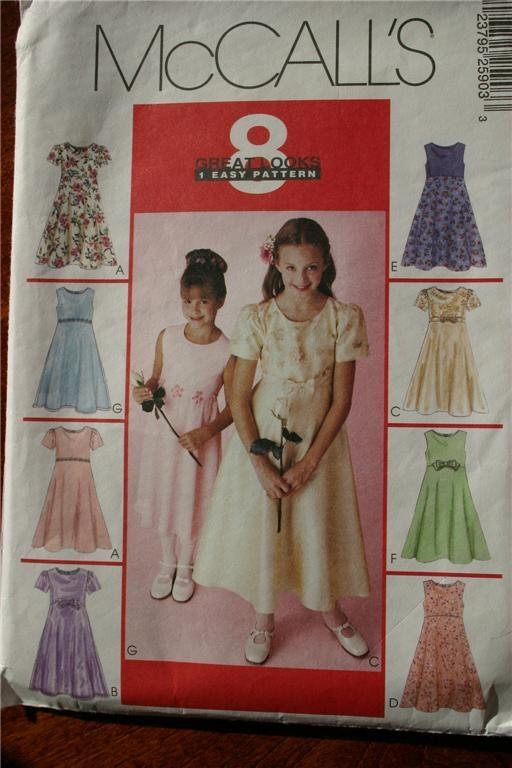 Girls Dress Pattern Some Special Occasion Sizes 7 to 16 U Pick   eBay